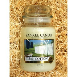 Yankee Candle BOTE GRANDE ALGODON , CLEAN COTTON