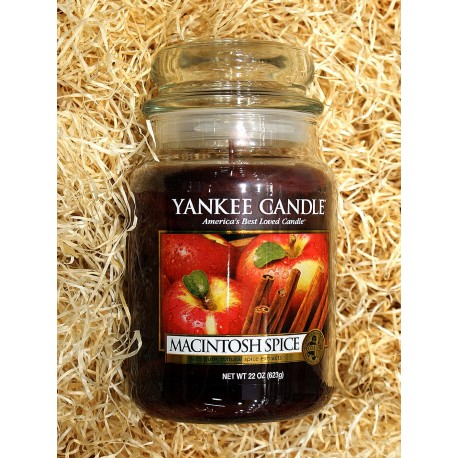 Yankee Candle BOTE GRANDE MANZANA-CANELA , MACINTOSH-SPICE