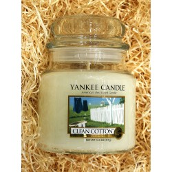 Yankee Candle BOTE MEDIANO ALGODON , CLEAN COTTON
