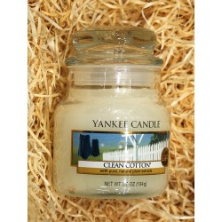 Yankee Candle BOTE PEQUEÑO ALGODON , CLEAN COTTON