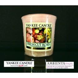 Yankee Candle VELA VOTIVA ROSAS, FRESH-CUT-ROSES