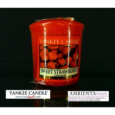 Yankee Candle VELA VOTIVA, FRESA DULCE, SWEET-STRAWBERRY